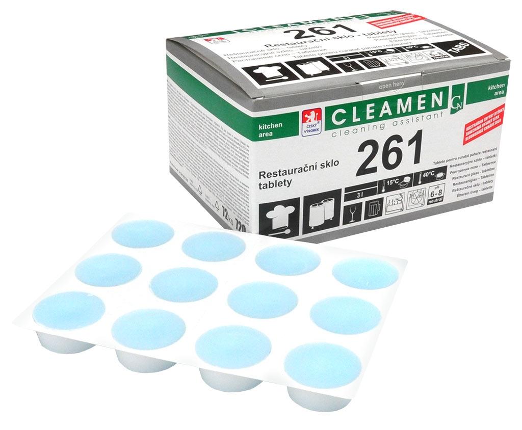 CLEAMEN 261 restaurační sklo tablety 720g