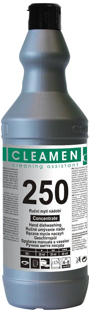 CLEAMEN 250 ruční mytí nádobí koncentrát  1 l