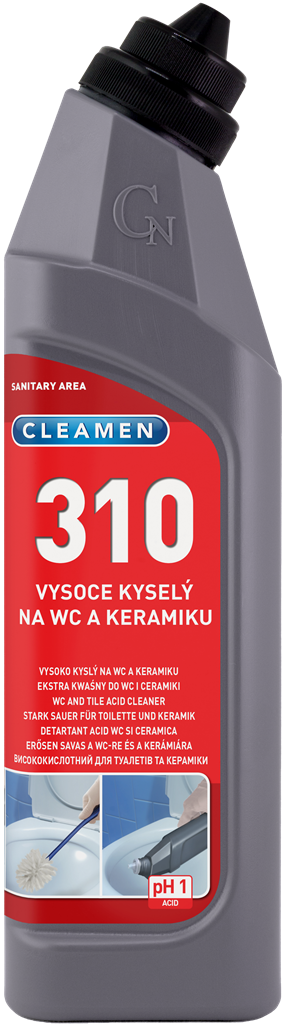 CLEAMEN 310 extra kyselý na WC a keramiku 750 ml