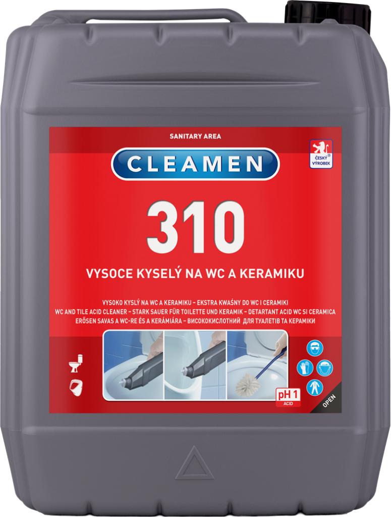 CLEAMEN 310 vysoce kyselý na WC a keramiku 5 l